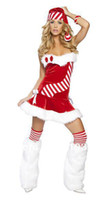 red tube sexy - sexy CL8008 New Merry Christmas Candy Cane Stripes Tube Red Dress Christmas Costume for Women Xmas costumes