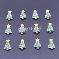 Wholesale christmas beautyMin order is can mix Silver Plated D Alloy Rhinestone Christmas Tree Nail Art Glitters DIY Nail Decoration Nail Sticker
