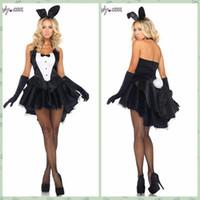 adult ballroom - sexy Bunny tuxedo magician costumes take role playing game Cosplay adult ballroom dress halloween playboy