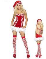 Wholesale sexy Santa s Candy Christmas women Dress christmas girl dress Xmas costumes