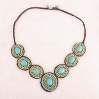 Cheap Beaded Necklaces stone necklace Best Chinese  yunnan ethnic  style  Women's handmade necklace