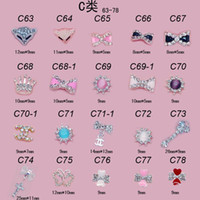 Wholesale 2015 Mix Fashion Style Nail Art D Alloy Metal Crystal Decoration Diamond Cellphone Rhinestone Glitter Charms Jewelry C series