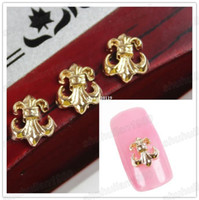 anchor nails - D Design Gold Plated Alloy Anchor Nail Art Sticker Studs