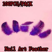 Wholesale YMZ Bag Nail Art Feather Decoration Acrylic UV Gel Hair Design Jewelry Manicure Tips Salon