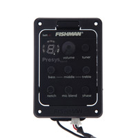 Wholesale Fishman Guitar Equalizer Band EQ Equalizer Acoustic Guitar Preamp Piezo Pickup LED Tuner with Mic Beat Board I450