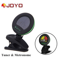 Wholesale JOYO LCD Clip on Electric Tuner Metronome Built in Mic for Guitar Bass Violin Ukulele New Arrivel I428