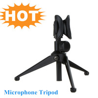 Wholesale High Quality Adjustable Desktop Microphone Stand Foldable Mic Holder Microphone Tripod I433