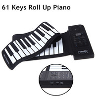 Wholesale LED Digital Display Electronic Piano Soft Silicon Material Keys Flexible Roll Up Piano with Loud Speaker I420