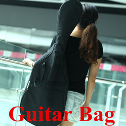 Wholesale Electric Guitar Bag Waterproof Gig Guitar Bag Shoulder Straps Pocket mm Cotton Padded Black Guitar Case I403