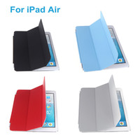 Wholesale Fashion Ultrathin Magnetic Smart PU Cover Folding Folio Case Shell Folds Stand for iPad Air Sleep Wake With Protective Film C1849