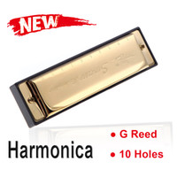 Wholesale Best gift Swan Diatonic Holes Blues Key of G Reed gaita de boca Instrument with Case harmonicas Made of Stainless Steel Melodica I305