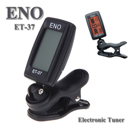 Wholesale ENO ET LCD Mini Clip on Electronic Guitar Chromatic Bass Violin Ukulel Tuner Wind Instrument Universal I263