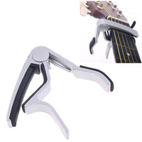 Wholesale Guitar Capo Made of Aluminium alloy Silver or Black Color Top Quality Electric Acoustic Guitar Capo I59