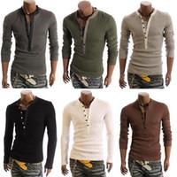 Men basic long sleeve shirts - Hot Sale men s sexy T shirt long sleeved T shirt tops boys basic tee shirts W63 salebags