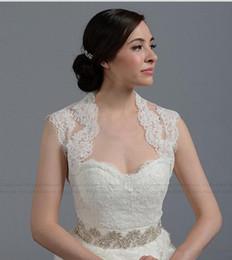 Beautydesign Ivory sleeveless Alencon Lace Bolero jacket Bridal Bolero Wedding jacket Bolero Bridal Shrug Lace Wedding Bridal Accessories