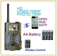 Wholesale HC M HD12MP NM MMS GPRS Scouting Infrared Trail Hunting Camera MMS SMS SunTek f