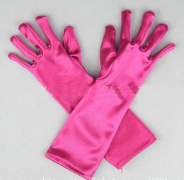 Wholesale halloween christmas kids elsa gloves frozen elsa blue hot pink coronation gloves costume gloves Fancy gloves blue red colors