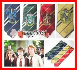 Necktie College tie boy Gryffindor tie with badge Slytherin Ravenclaw Costume Accessory tie multicolour girls children stripe ties