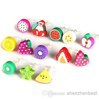 anti dust earphone - Anti Dust Plug Fruit Dust Cap For Iphone plus s For mm plug Phone