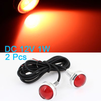 Wholesale 2 x W Red LED Bolt on Screw Eagle Eye Tail Backup Lamp mm for Car