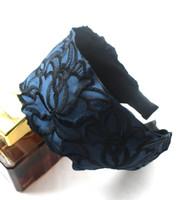 Wholesale Export Lace Embroidery Hoop Headband Wide Cloth Headband Sweet Head Buckle N27460
