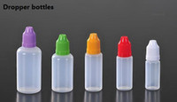 Wholesale PE bottles with childproof safety cap and long thin dropper tip ml ml ml ml ml e liquid bottles