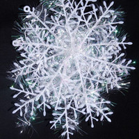 Wholesale 10cm Christmas Tree Decoration Snowflake Plastic Snowflake Holiday Decoration LCCLJ13