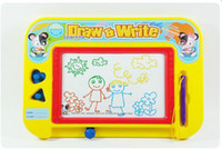 crafts for children - Magnetic Drawing Board Sketch Pad Doodle Writing Craft Art Toys for Children learning education Random Color