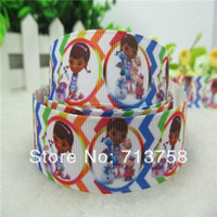 Wholesale Newest arrival yards mm garment accessories hairbow diy cartoon character girl Doc grosgrain ribbon