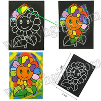 Wholesale 50PCS Mixed design paper magic scratch cards Scraping painting Kids toy Promotion toy Kindergarten toys cm