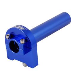 Wholesale Motorcycle Repair Parts Aluminum Engine Speed Throttle Handlebar Grip Blue
