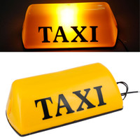 Wholesale Plastic Housing Yellow Light Magnetic Bottom Taxi Cab Top Sign Light DC V