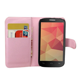 S5Q PU Leather Flip Cover Slim Wallet Cases Stander For Alcatel One Touch POP C7 AAADXM