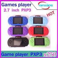 Wholesale DHL PXP3 bit Handheld Video Game Player Console Free Games YX PV
