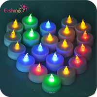 Wholesale colorful led bar candle light paraffin material simulation flame wedding candle lights