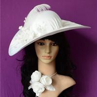 tea party hats - wedding Bouquet Dress Bridal Hats tea party hats Fashion Women s Hats Satin Handmade fascinator hats white church sun beach hat