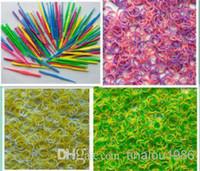 Wholesale Rubber Bands colors tie dye Silicone rainbow loom bands kit rainbow loom bands rainbow loom bracelet Rubber refill bag quot S quot