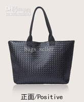 cheap handbags - Cheap Handbag Women Tote Bag Knitted Black PU Leather Korea Style B11