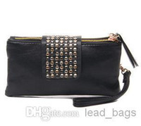 Wholesale Special Offer Rivets Evening Bag Black Red Beige Color Mix B12