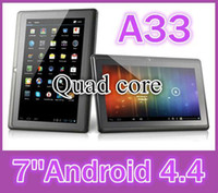 Wholesale DHL quot inch Capacitive Allwinner A33 Quad Core Android dual camera Tablet PC GB MB WiFi EPAD