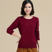 100 cashmere sweater - 100 Cashmere Sweater of Women s O Neck Long Sleeved Spring Autumn Style Pullover Fashion High Quality Cashmere Sweater HL001
