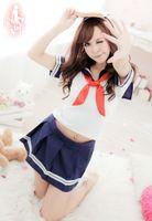 Wholesale New Japanese High School Girl Sailor Sexy Uniform Cosplay Costume