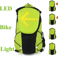 Wholesale 2014 New Arrival Unique Bike LED Light Bicycle Turn Signal Indicator LED Rear Light Bicycle With Remote Control Green Orange
