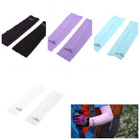 Cheap Anti-sunburn Outdoor Sport Bike Bicycle Cycling Sleeves Arm Warmers Oversleeves UV Protection Unisex White Black Blue Purple H12322