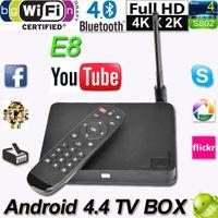 e8 android - High Quality Quad Core E8 Android TV Box Player Amlogic S802 Mali450 K G GB Dual Wifi XBMC Bluetooth Set Top Box V777