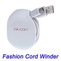 Wholesale Magic Automatic Cable Winder for Mobilephone Earphones Wire USB Data Cables Chargers Cords Manager V657