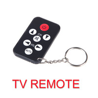 Wholesale Mini Universal IR Keys TV Remote Control with Keychain Black V602