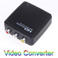 Wholesale FLYKAN Mini HDMI to AV CVBS Converter Video Adapter Box PAL NTSC HD P Connector V550