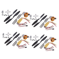 Wholesale 4pcs A2212 KV Brushless Outrunner Motor HP A ESC Prop B Quad Rotor Set for RC Aircraft Multicopter