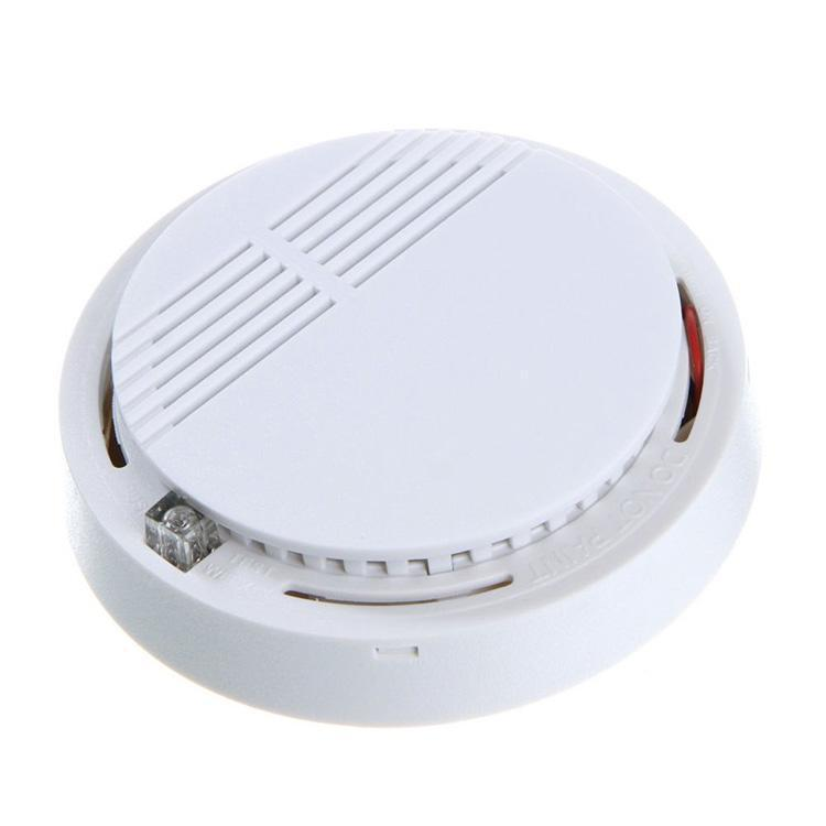 wireless smoke alarm detector fire alarm sensor for gsm alarm system home safety security. Black Bedroom Furniture Sets. Home Design Ideas